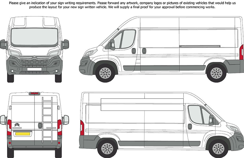 Glazingvans signwriting for Van sign writing templates