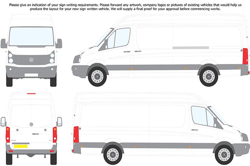 Glazing vans volkswagen crafter for Van sign writing templates